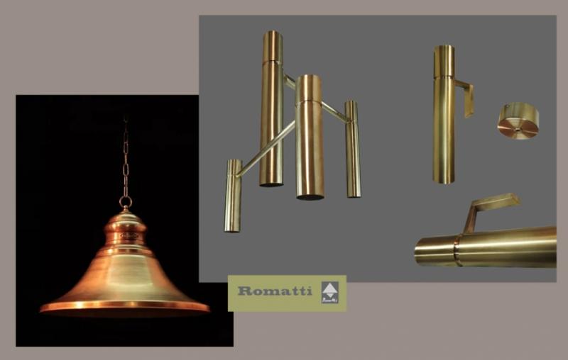 Изготовление светильников из меди и латуни на заказ