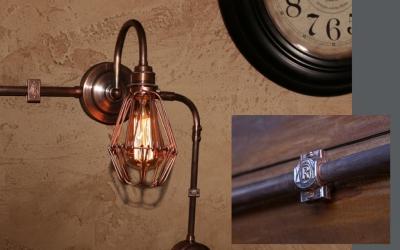 Изготовим светильник в стиле ретро проводки